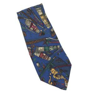 Vintage Silk Tie Artist Painter Necktie Art 90s